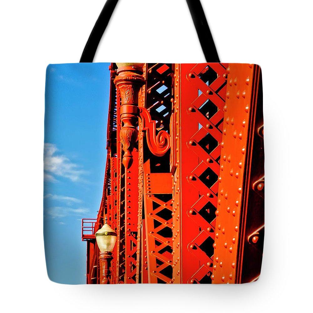 Broadway Bridge Tote Bag featuring the photograph Riveting Image by Albert Seger