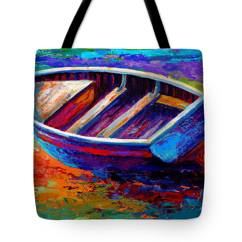 Boat Tote Bag featuring the painting Riviera Boat IIi by Marion Rose