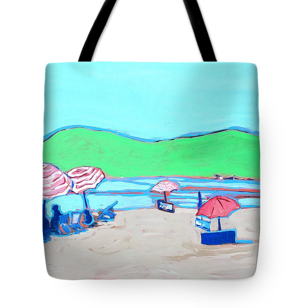 Seashore Tote Bag featuring the painting Riviera by Kurt Hausmann