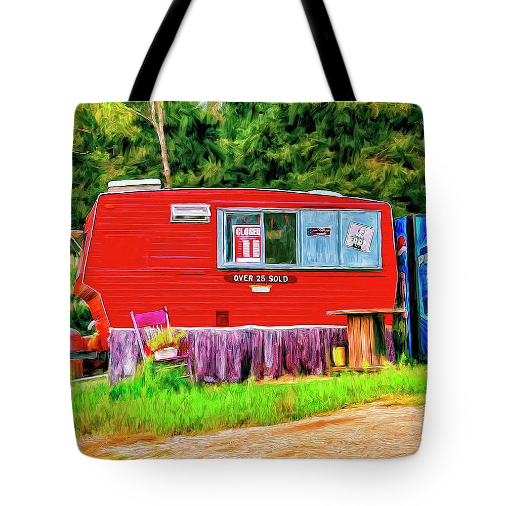Roach Coach Tote Bag featuring the painting Roach Coach by Dominic Piperata