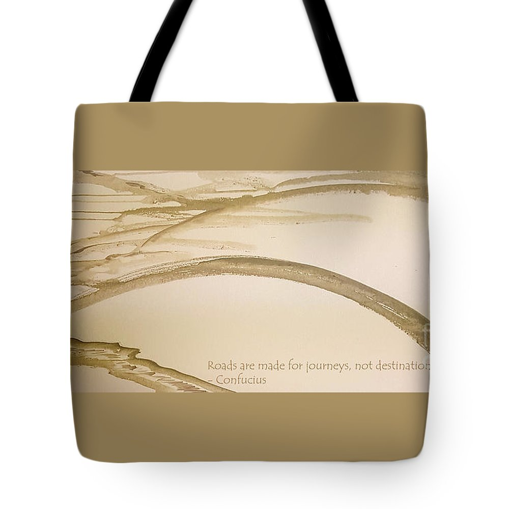 Sumii Tote Bag featuring the painting Road Is A Journey by Cheryle Gannaway