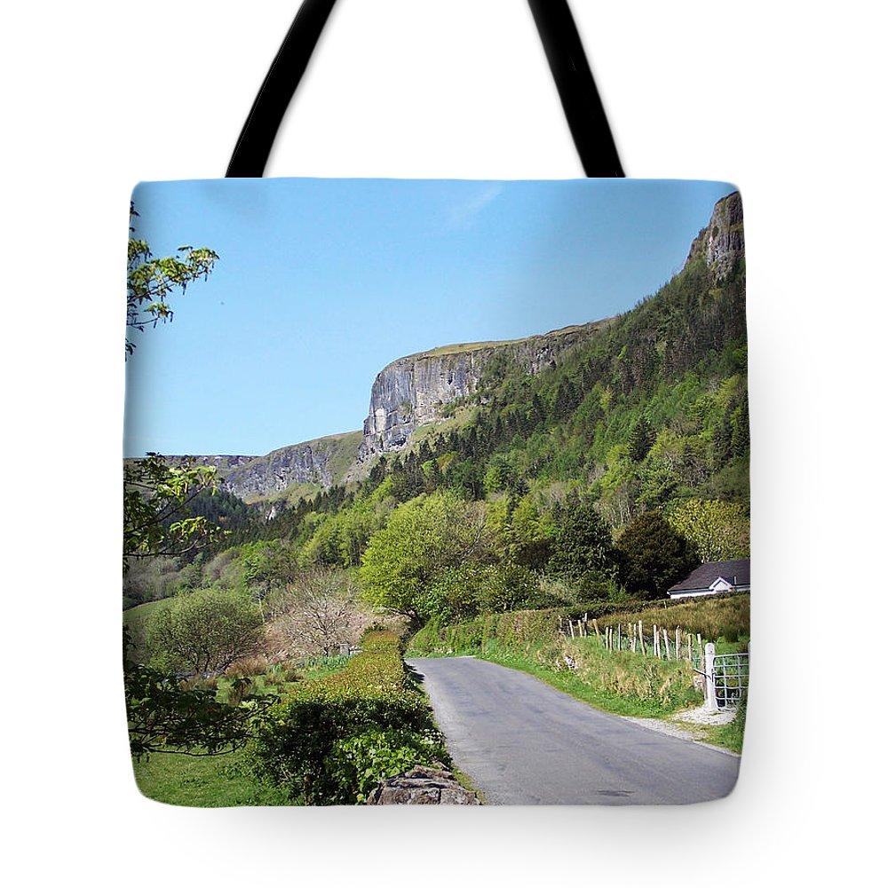Irish Tote Bag featuring the photograph Road To Benbulben County Leitrim Ireland by Teresa Mucha