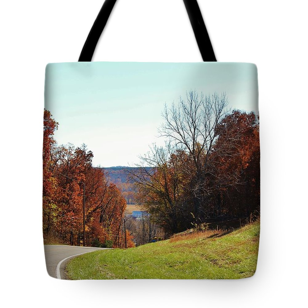 Landscape Tote Bag featuring the photograph Road To Stonefort by Ron Emery