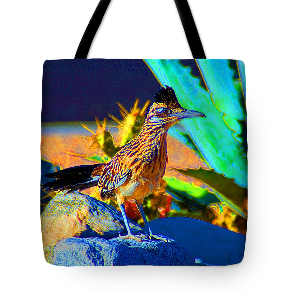 Roadrunner Tote Bag featuring the photograph Roadrunner by John Malmquist