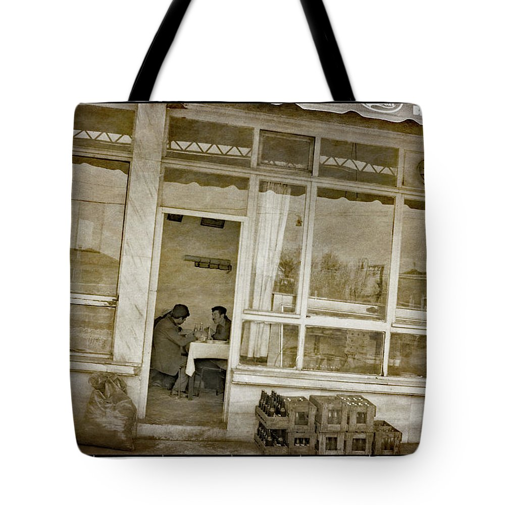 Iran Tote Bag featuring the photograph Roadside Diner, Iran by Michael Ziegler