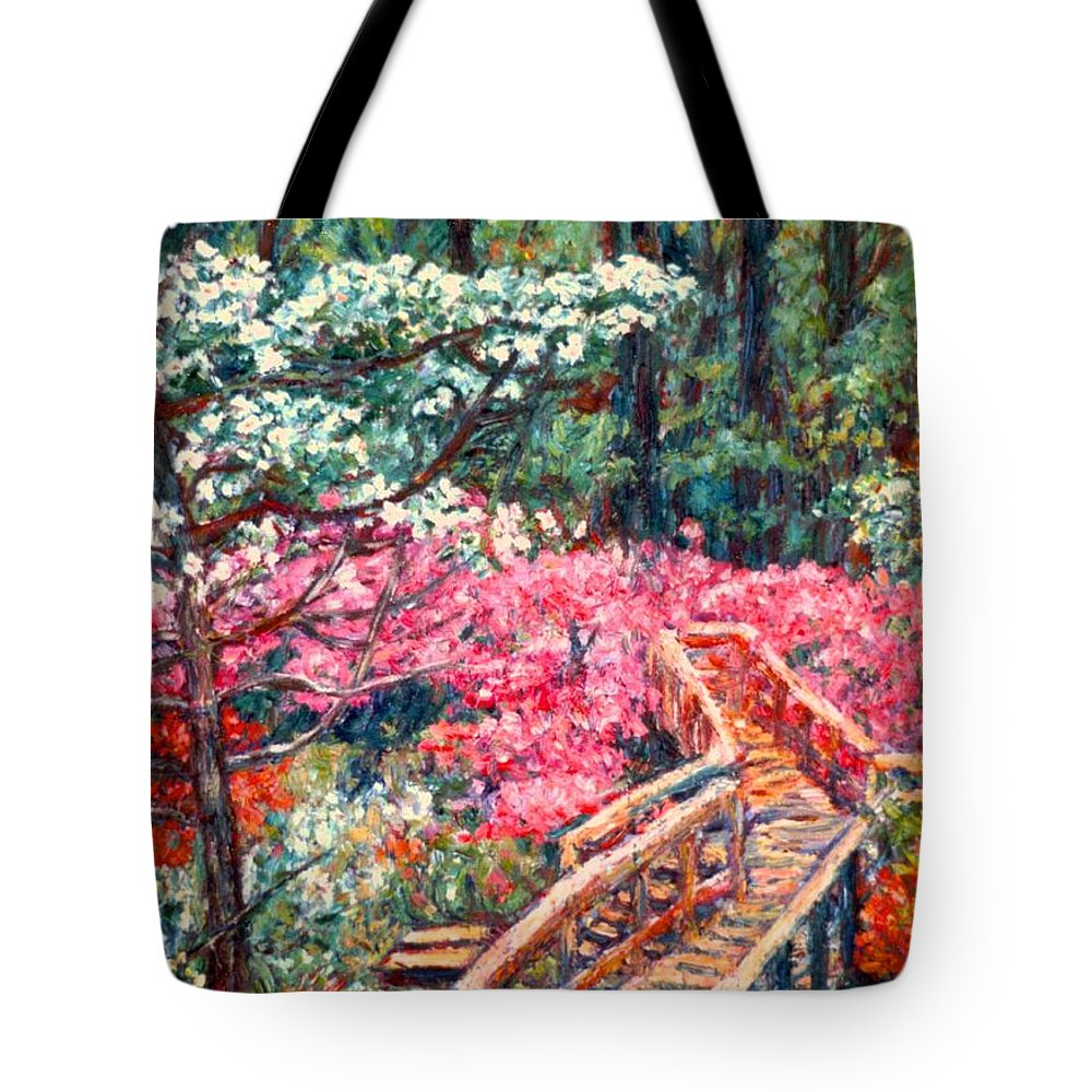 Garden Tote Bag featuring the painting Roanoke Beauty by Kendall Kessler