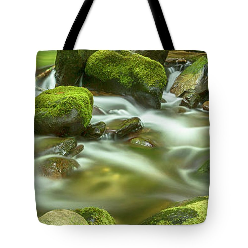 Roaring Fork Tote Bag featuring the photograph Roaring Fork Cascade by Stephen Stookey
