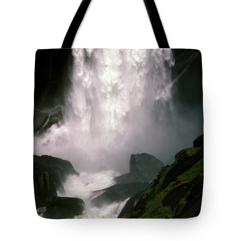 Waterfalls Tote Bag featuring the photograph Roaring Thunder by Paul W Faust - Impressions of Light