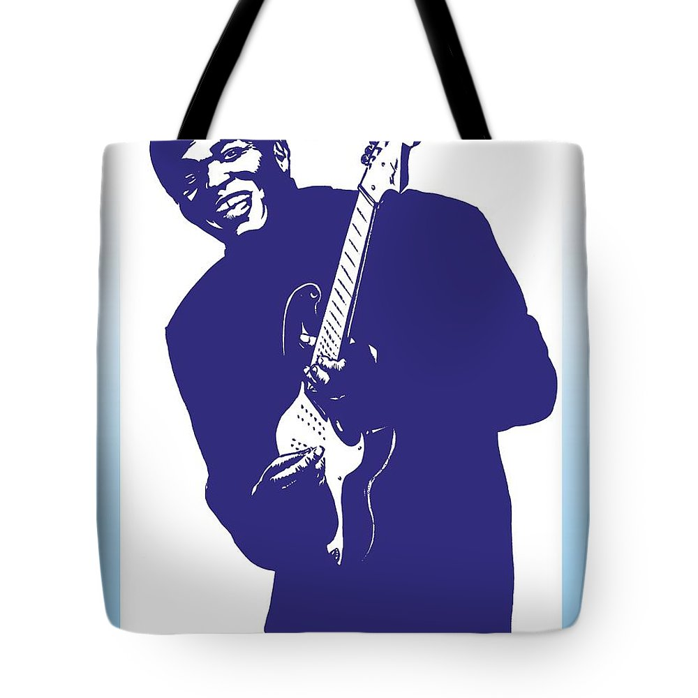 Robert Tote Bag featuring the drawing Robert Cray by Markus Neal Humby