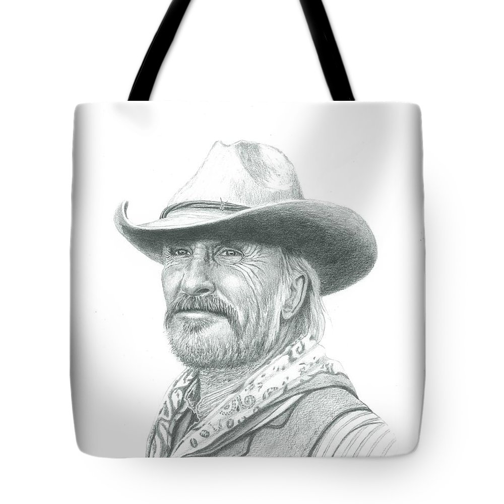 d228cb9e Actor Tote Bag featuring the drawing Robert Duvall As Gus In Lonesome Dove  by Daniel Lindvig