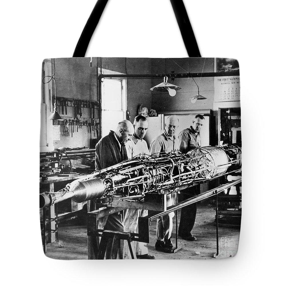 1940 Tote Bag featuring the photograph Robert Hutchings Goddard by Granger