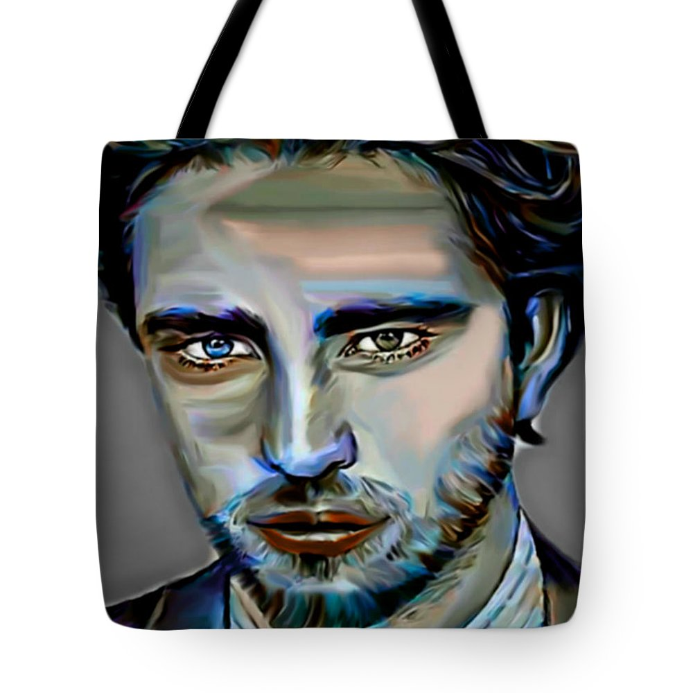 Robert Pattinson Tote Bag featuring the painting Robert Pattinson by Felix Von Altersheim