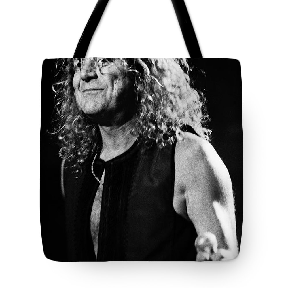 Robert Plant Tote Bag featuring the photograph Robert Plant-0039 by Timothy Bischoff