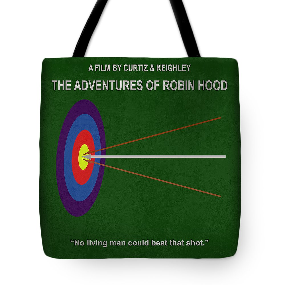 Robin Tote Bag featuring the photograph Robin Hood Movie Poster by Matt Malloy