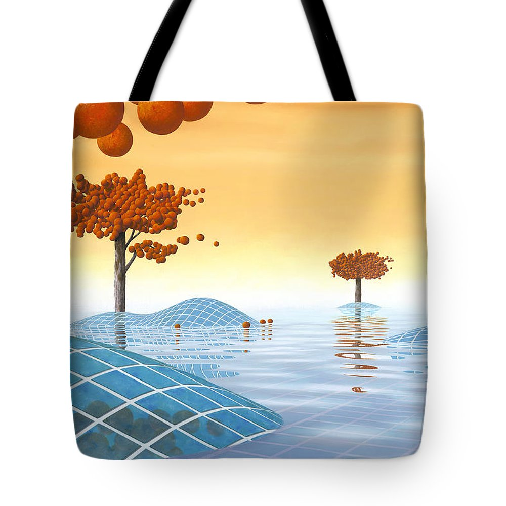 Architecture Tote Bag featuring the painting Robinia Natatalis by Patricia Van Lubeck