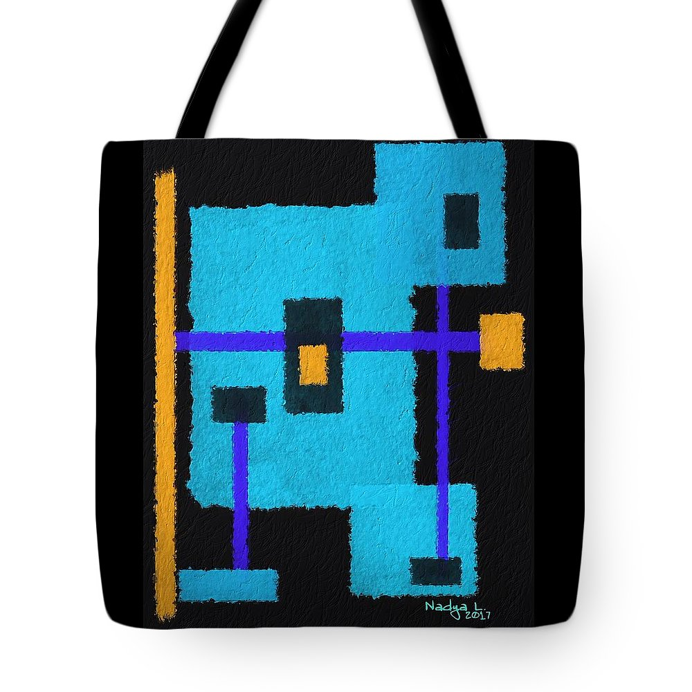 Robot Tote Bag featuring the digital art Robot by Nadya Lessa