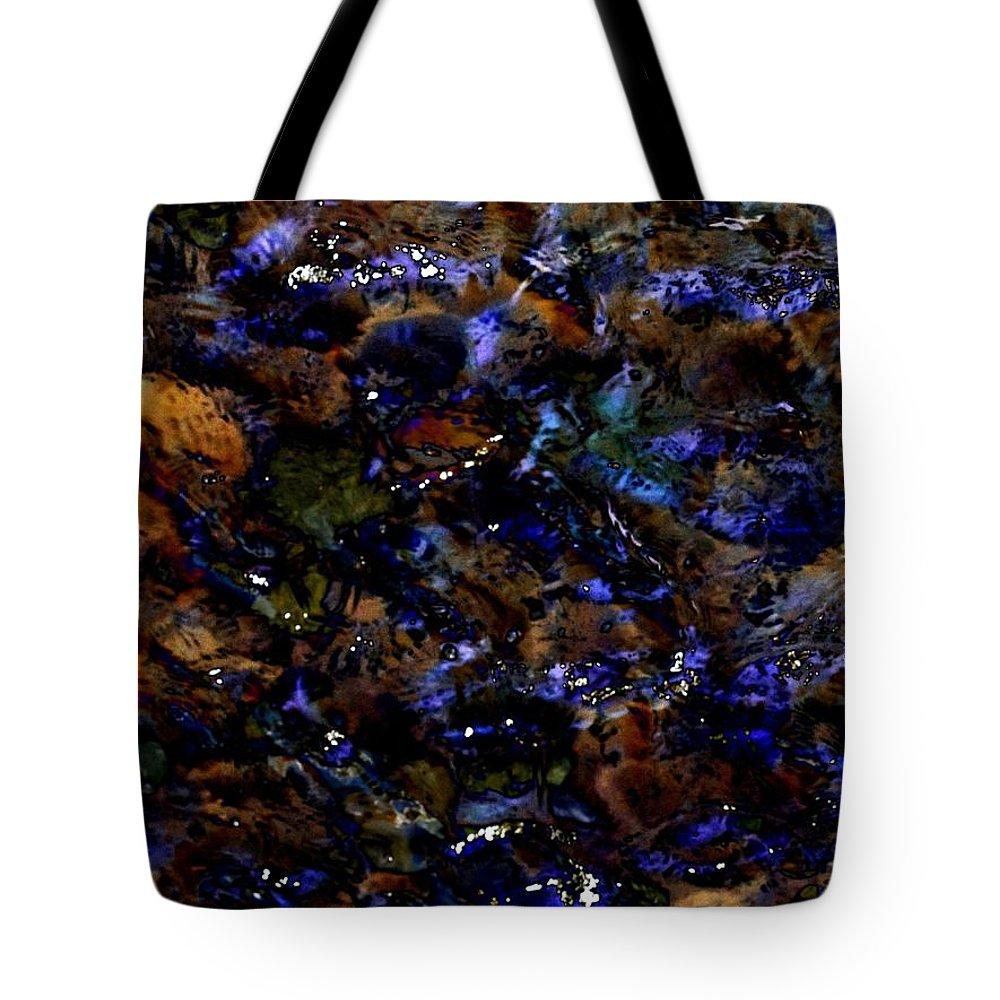 Rocks Tote Bag featuring the digital art Rock Bottom by Tim Allen