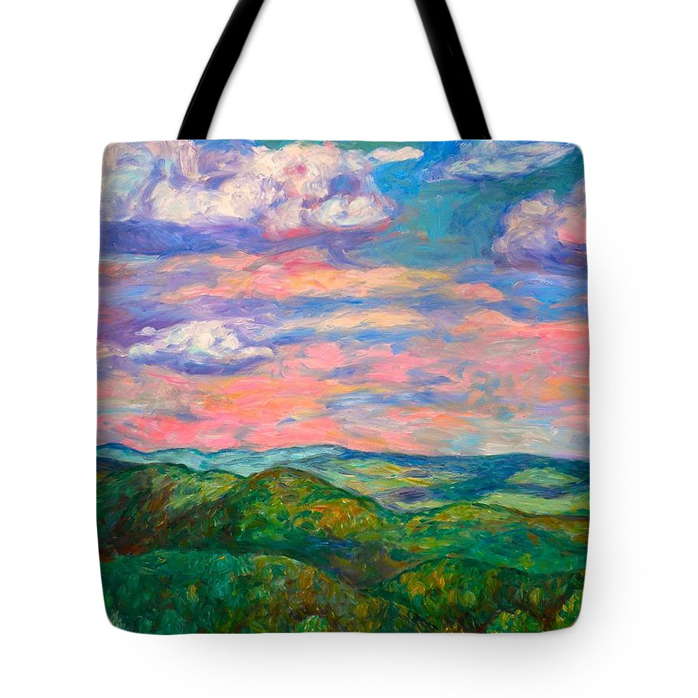 Landscape Paintings Tote Bag featuring the painting Rock Castle Gorge by Kendall Kessler