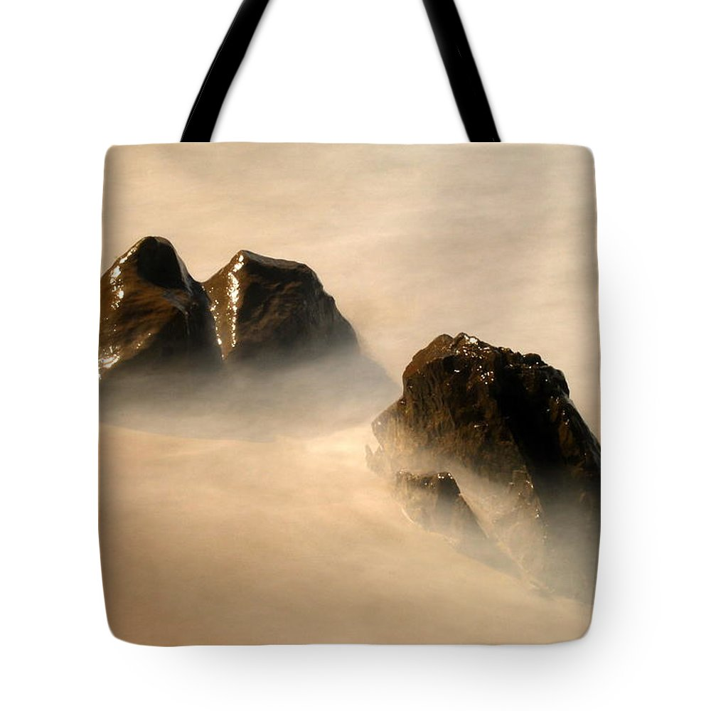 Photography Tote Bag featuring the photograph Rock In The Ocean by Catherine Lau