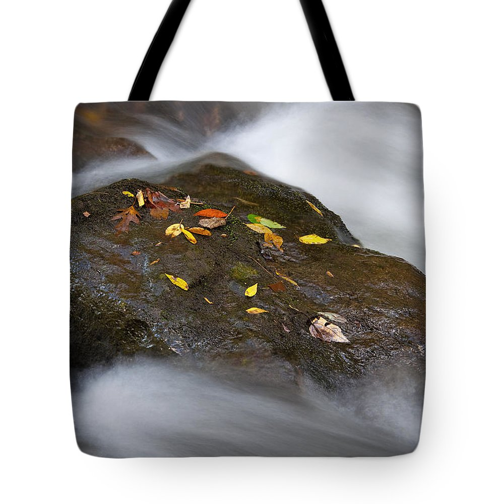 Rock Tote Bag featuring the photograph Rock In Water by Itai Minovitz