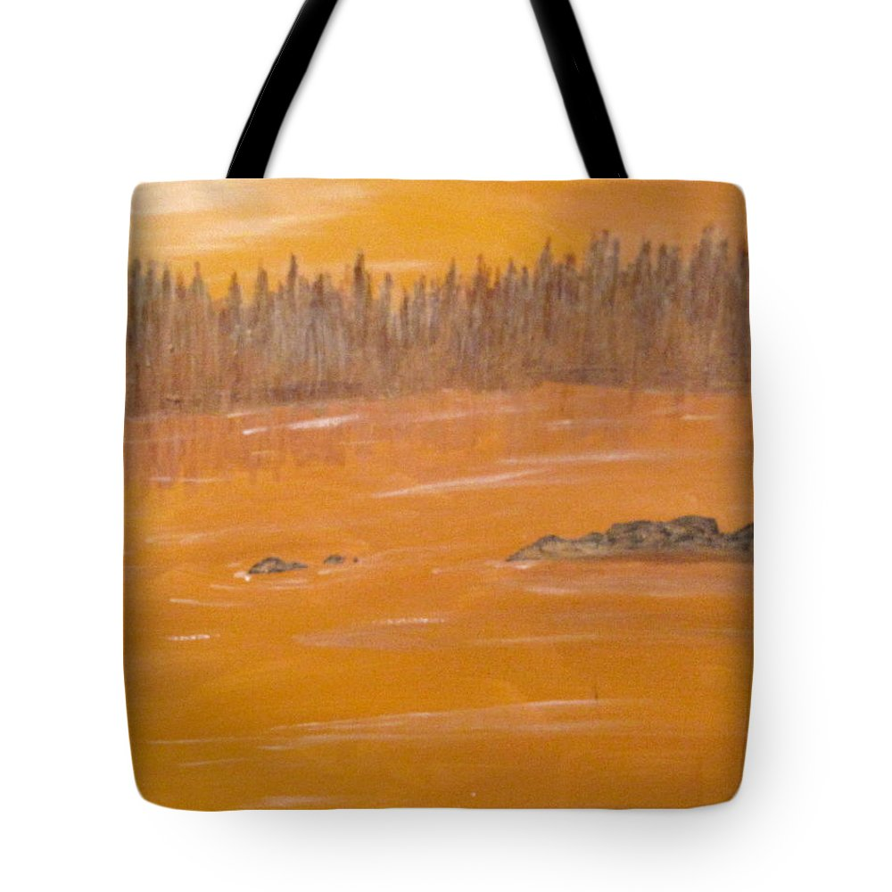 Northern Ontario Tote Bag featuring the painting Rock Lake Morning 2 by Ian MacDonald