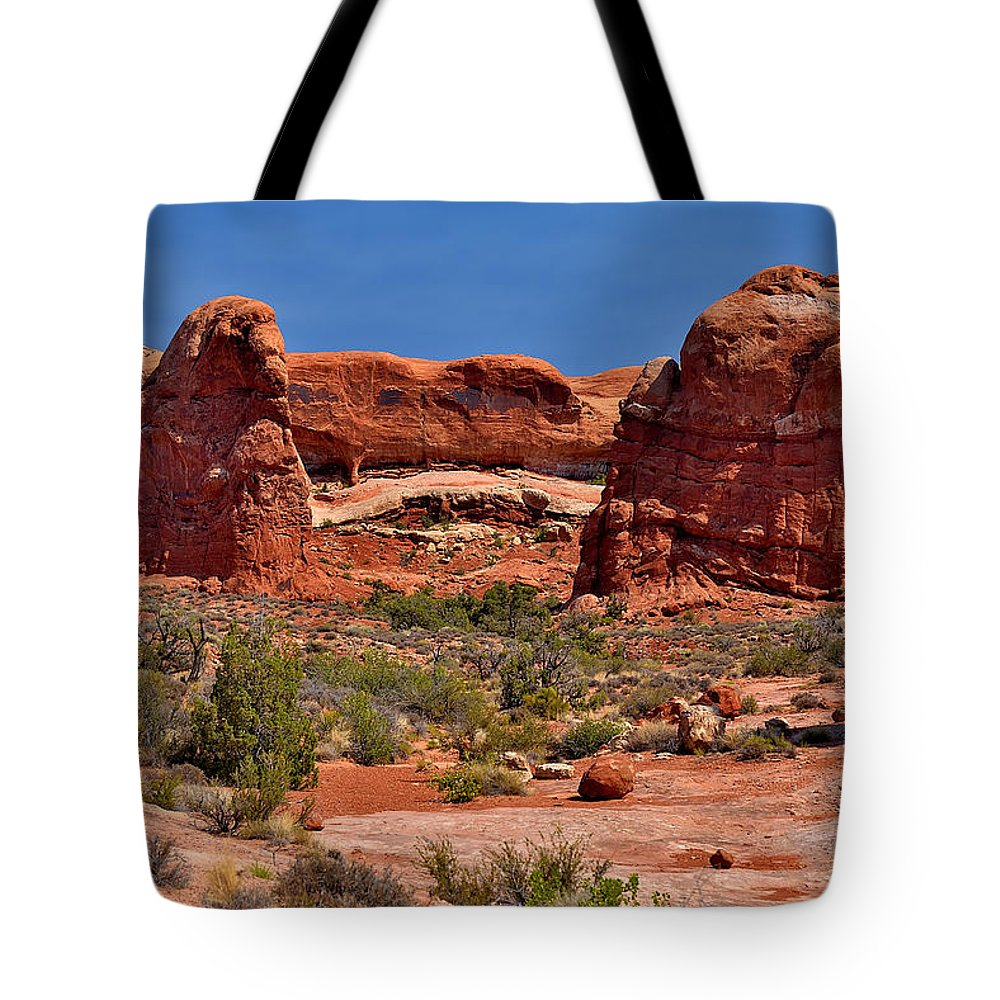 Arches Tote Bag featuring the photograph Rock Pinnacles 3 by Richard J Cassato
