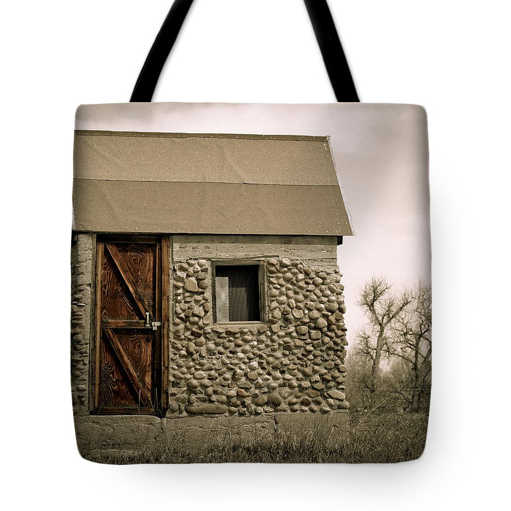 Americana Tote Bag featuring the photograph Rock Shed 2 by Marilyn Hunt