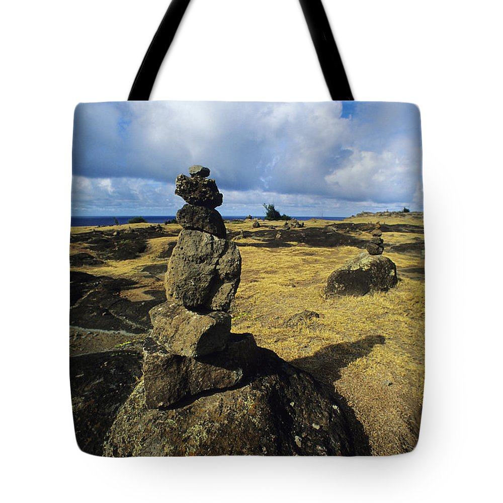 Afternoon Tote Bag featuring the photograph Rock Stacks by Carl Shaneff - Printscapes