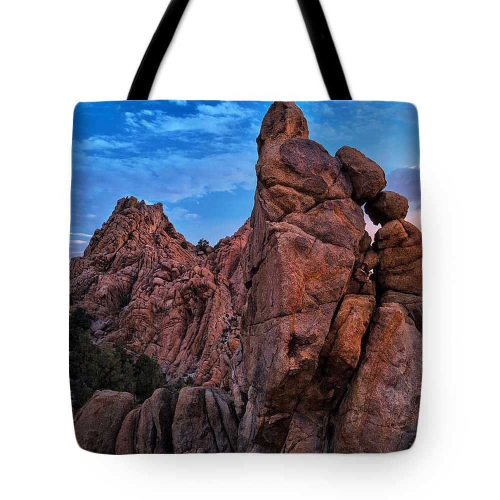 Usa Tote Bag featuring the photograph Rock Towers by Christian Heeb
