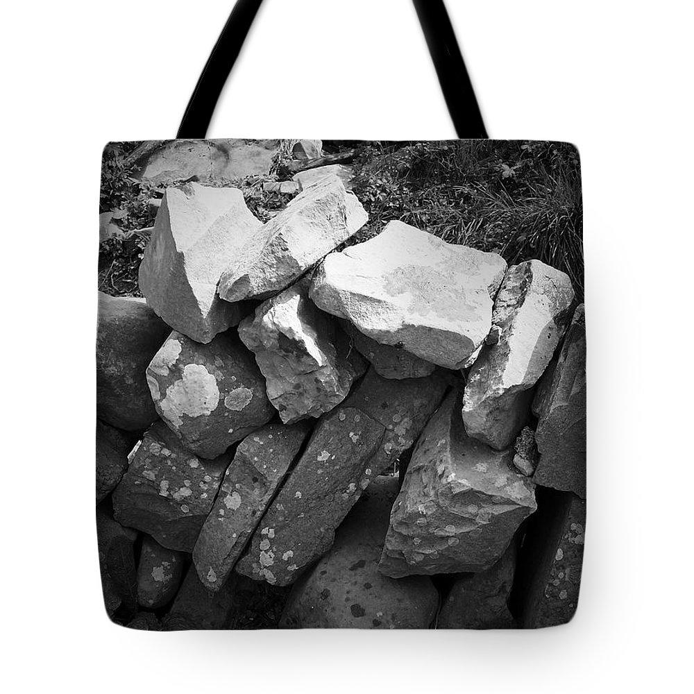 Irish Tote Bag featuring the photograph Rock Wall Doolin Ireland by Teresa Mucha
