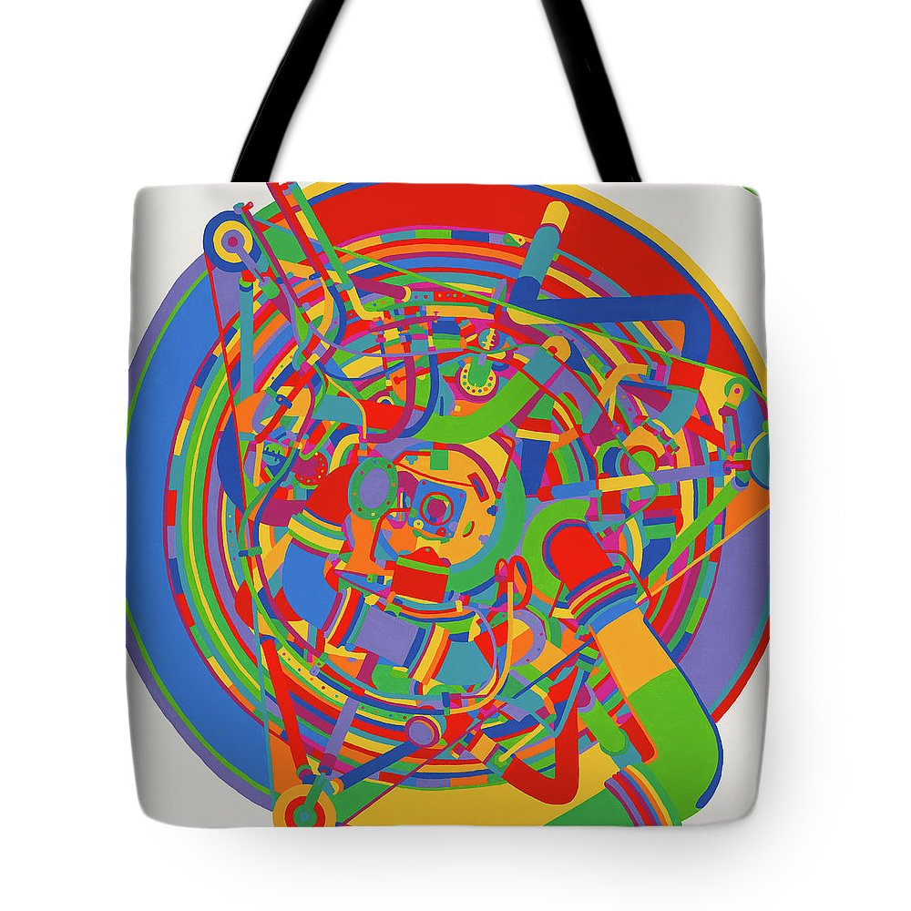 Rocket Tote Bag featuring the painting Rocket by Janet Hansen