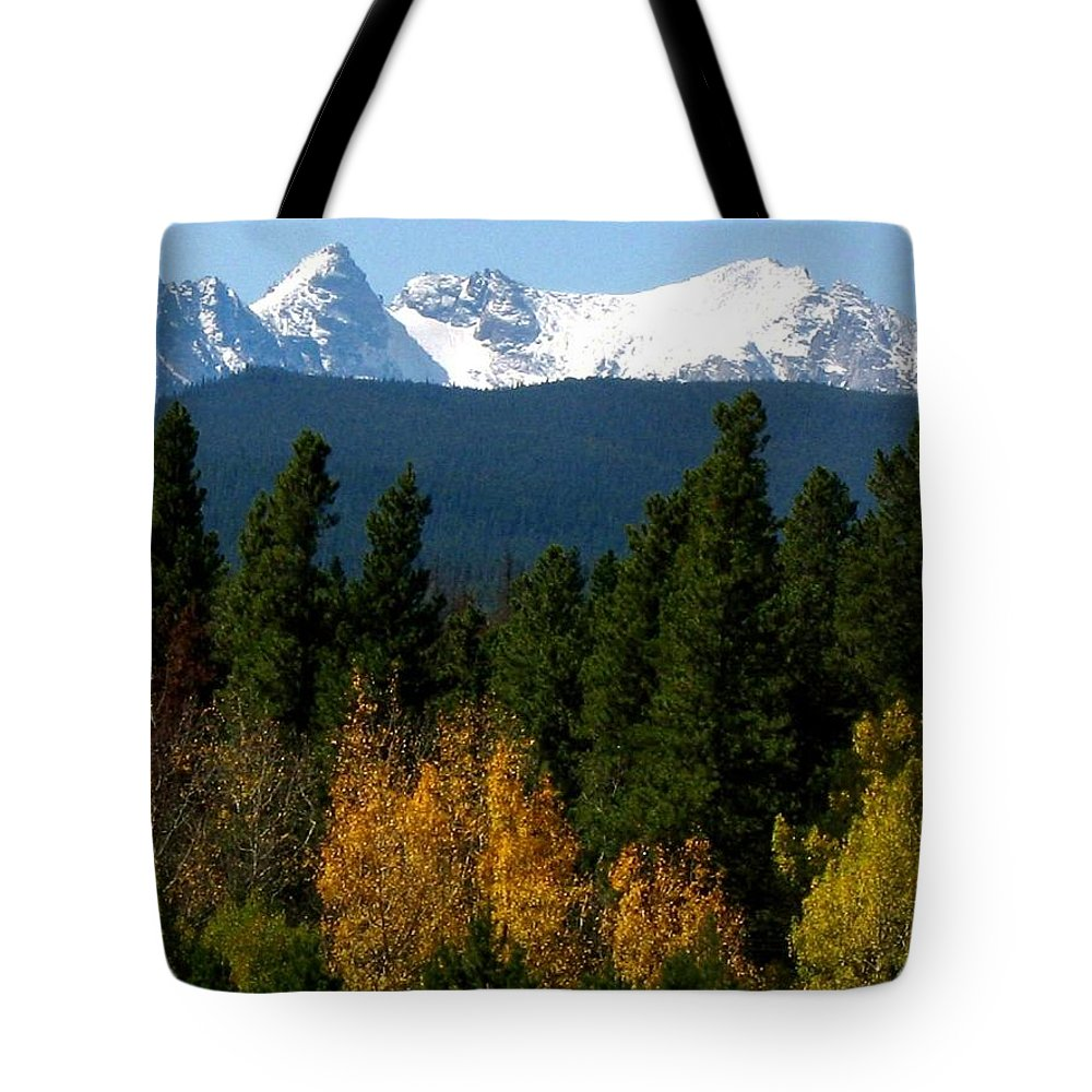 Rockies Tote Bag featuring the photograph Rockies Mtn M 204 by Sierra Dall