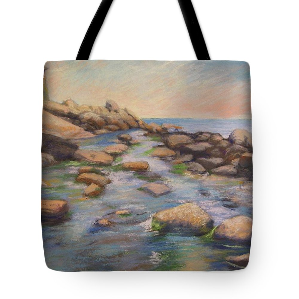 Mcgrath Tote Bag featuring the painting Rockport Harbour by Leslie Alfred McGrath