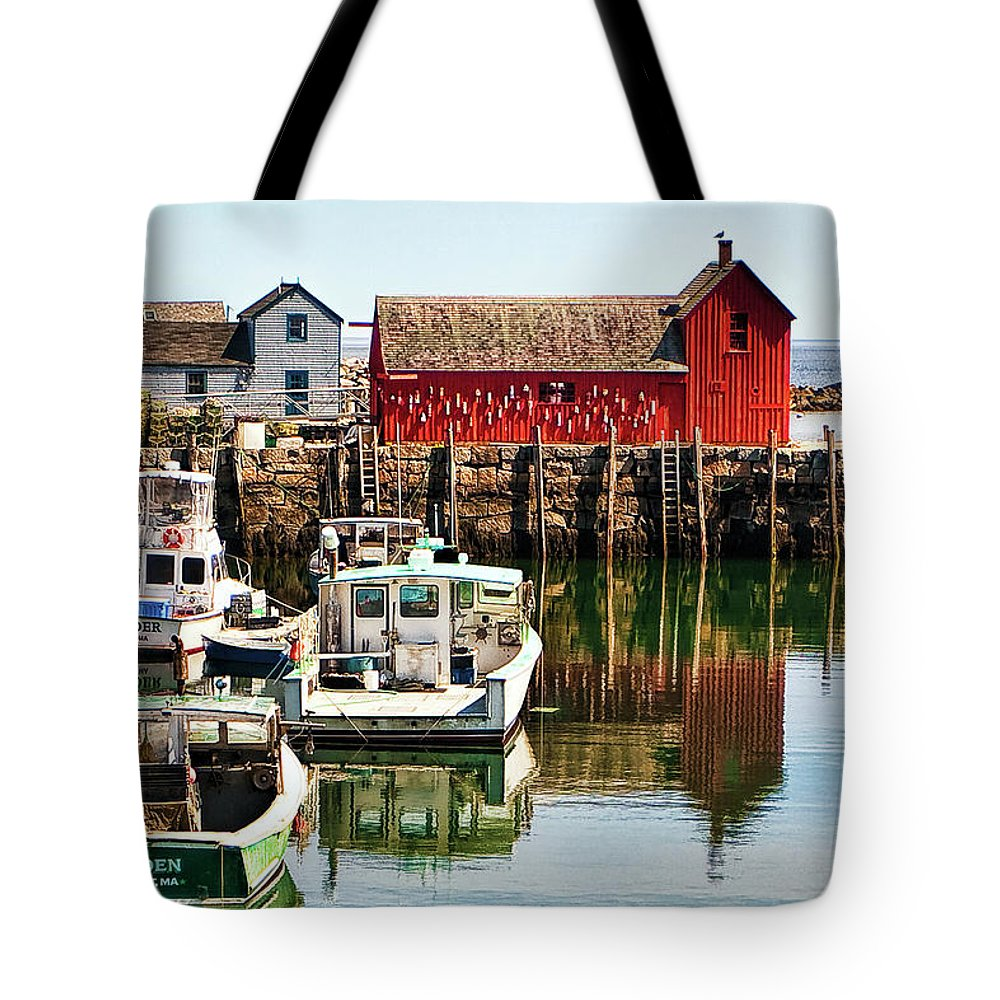Rockport Tote Bag featuring the photograph Rockport Sunrise by Marcia Colelli