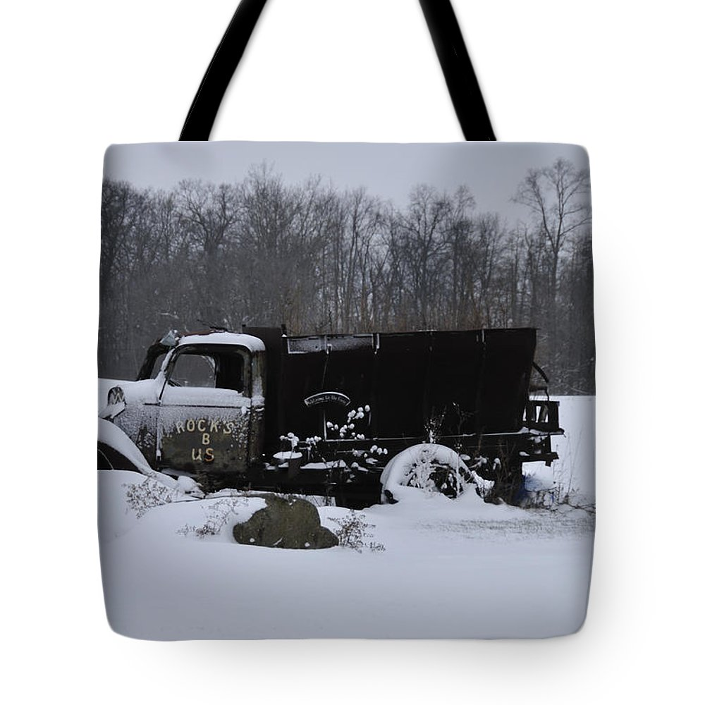 Dump Truck Tote Bag featuring the photograph Rocks B Us 2 by David Arment