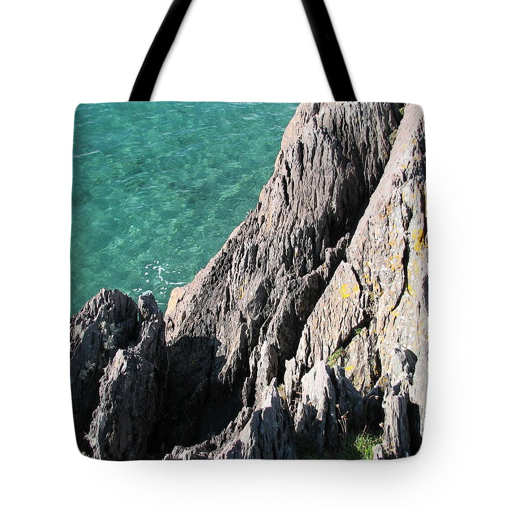 Kerry Tote Bag featuring the photograph Rocks Of Kerry by Kelly Mezzapelle