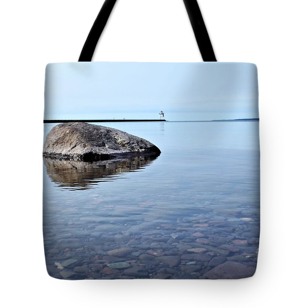 Lake Superior Tote Bag featuring the photograph Rocks Of Lake Superior 10 by Jimmy Ostgard