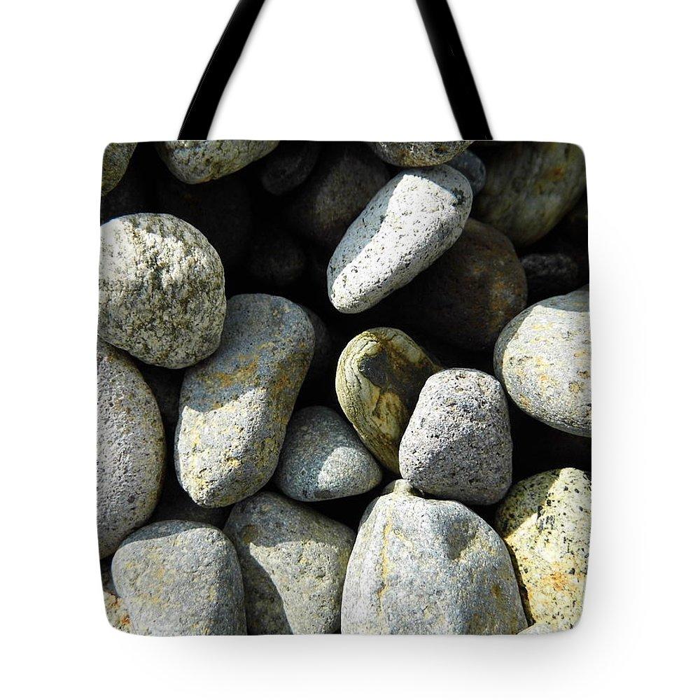 Rock Tote Bag featuring the digital art Rocks by Palzattila