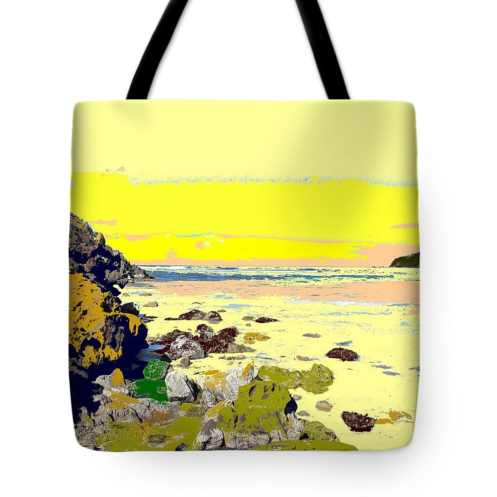 Beach Tote Bag featuring the photograph Rocky Beach by Ian MacDonald