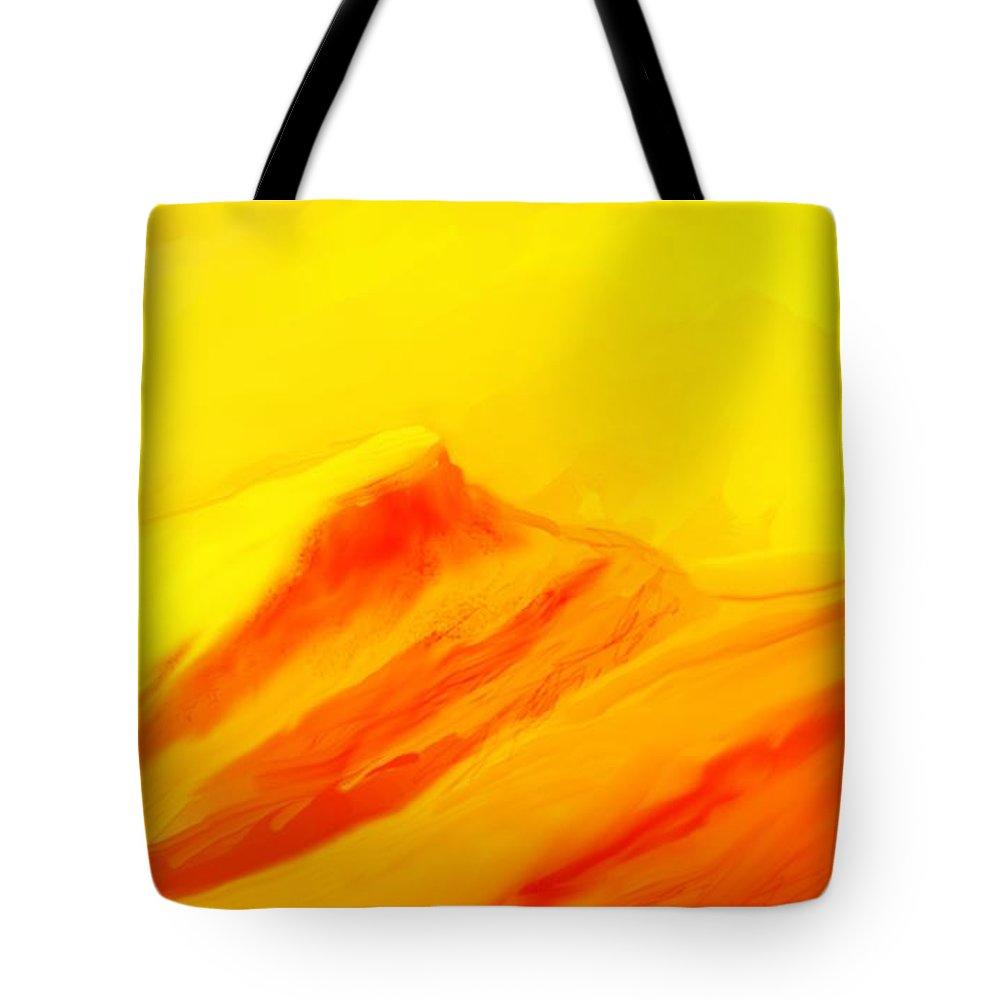 Landscape Tote Bag featuring the digital art Rocky Landscape 122010 by David Lane