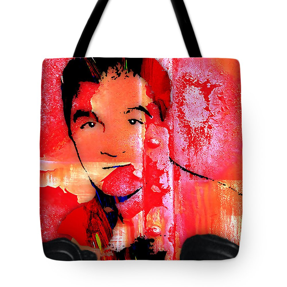 Rocky Marciano Tote Bag featuring the mixed media Rocky Marciano Collection by Marvin Blaine