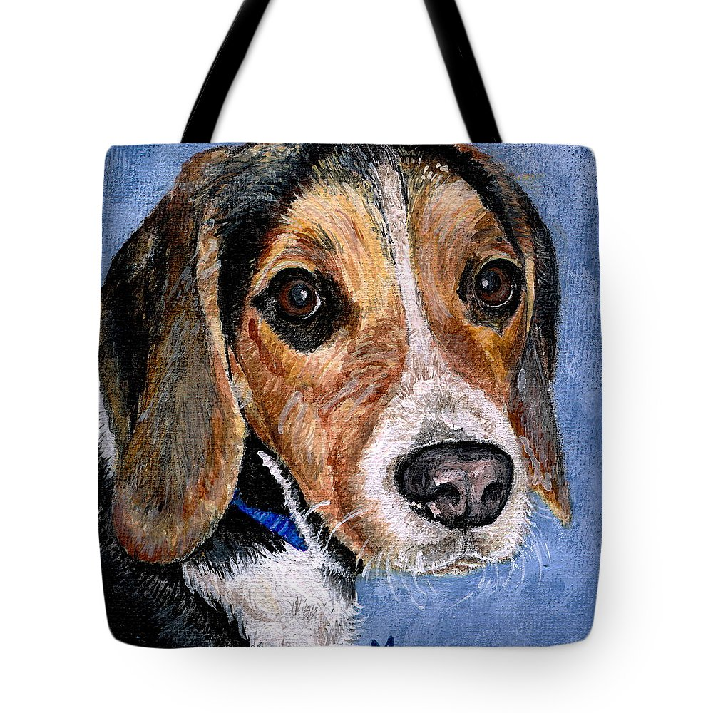 Dog Tote Bag featuring the painting Rocky by Mary-Lee Sanders