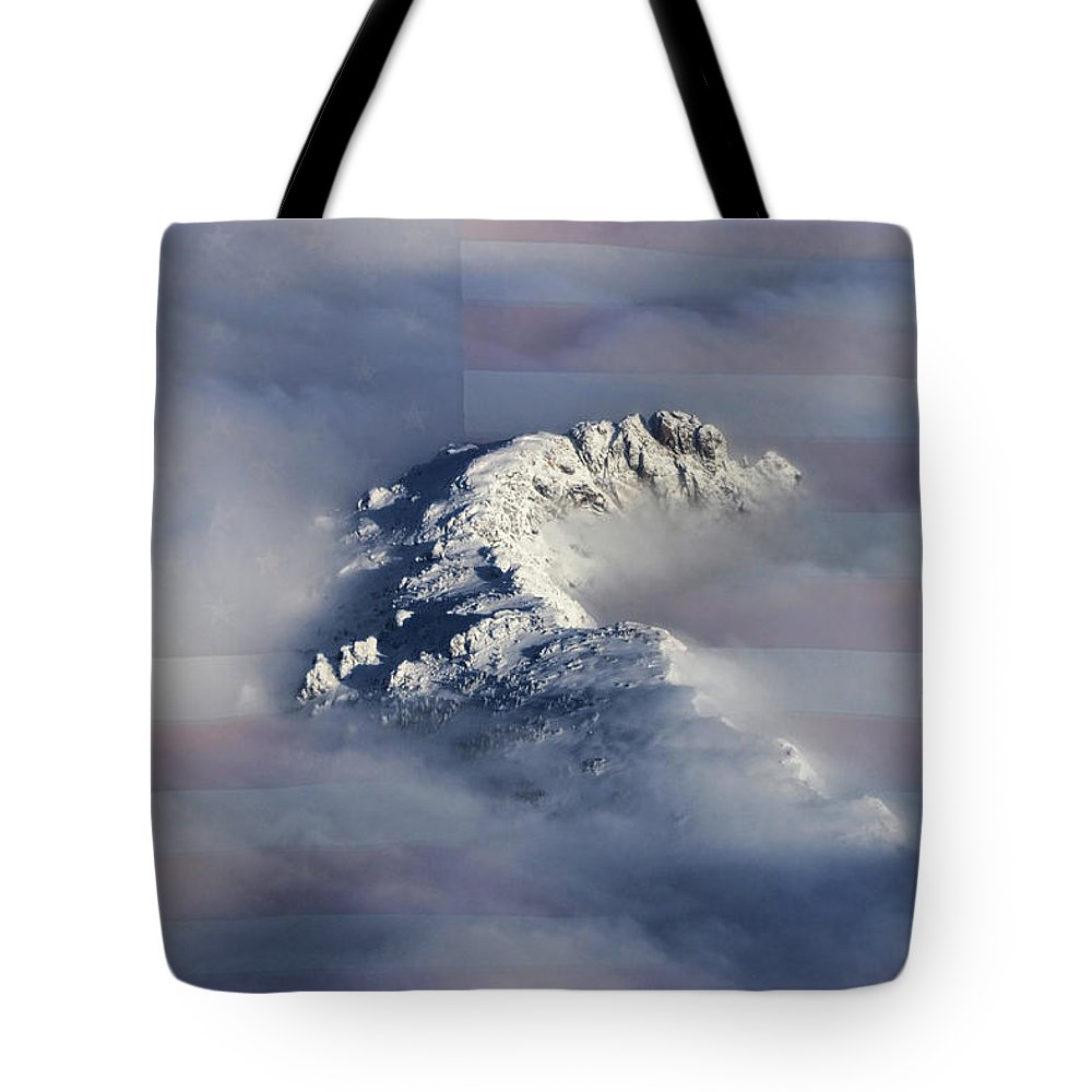 Rocky Mountains Tote Bag featuring the photograph Rocky Mountain High - America The Beautiful by James BO Insogna