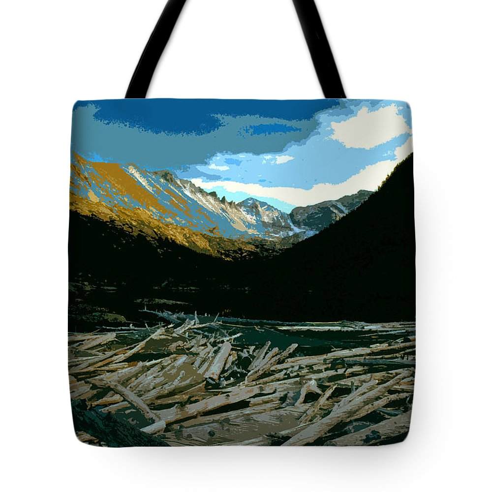 Rocky Mountain National Park Tote Bag featuring the painting Rocky Mountain National Park by David Lee Thompson