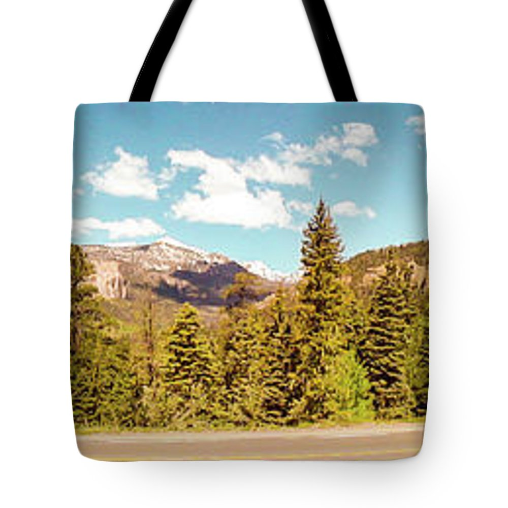 Colorado Tote Bag featuring the photograph Rocky Mountain Panorama by George Lehmann