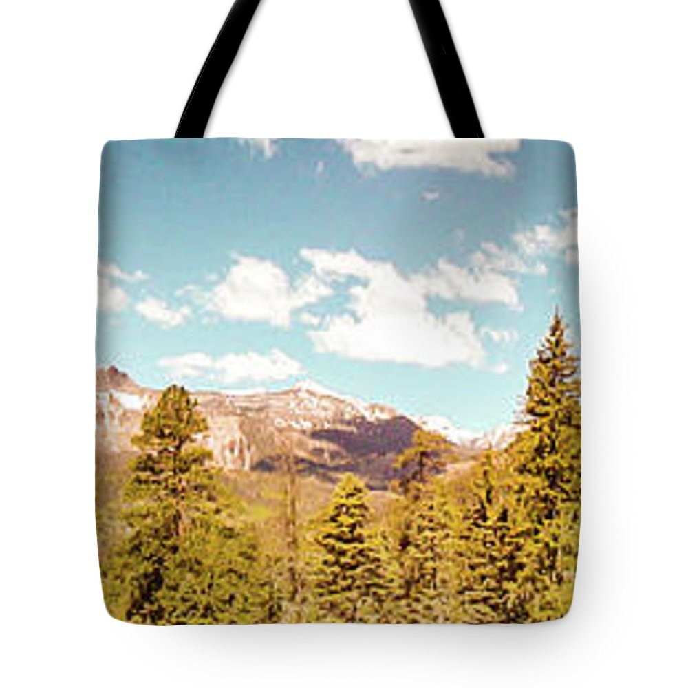 Rocky Tote Bag featuring the photograph Rocky Mountain Panorama Too by George Lehmann