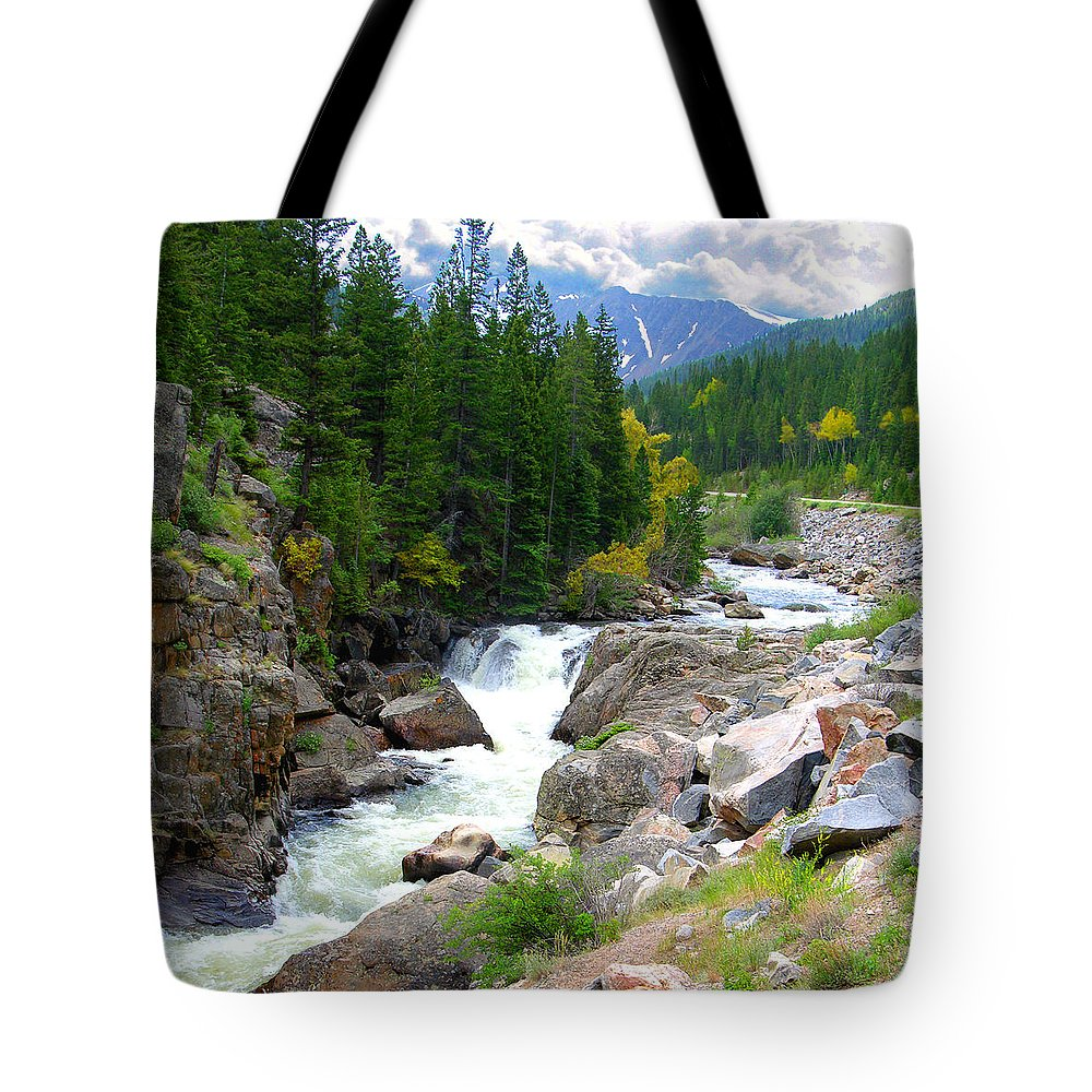 Landscape Tote Bag featuring the photograph Rocky Mountain Stream by John Lautermilch