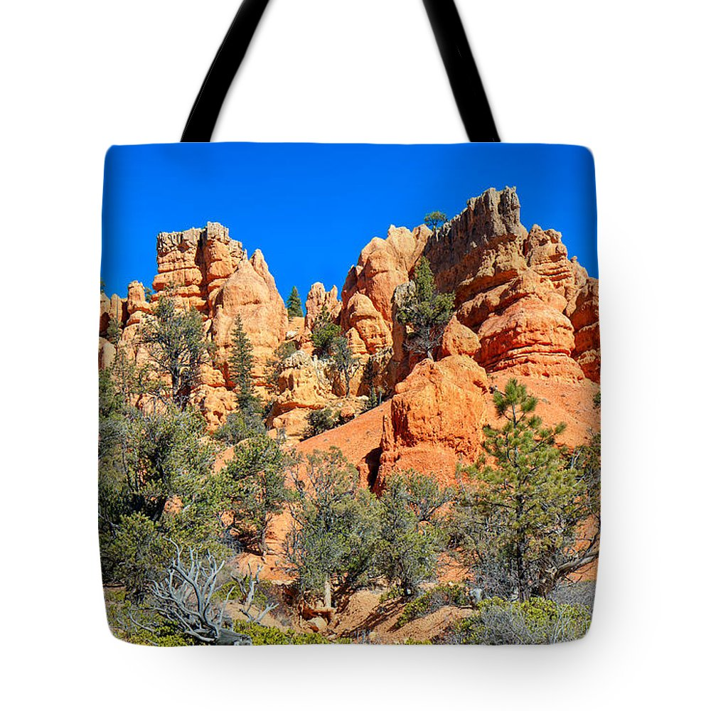 Landscape Tote Bag featuring the photograph Rocky Range At Red Canyon by John M Bailey