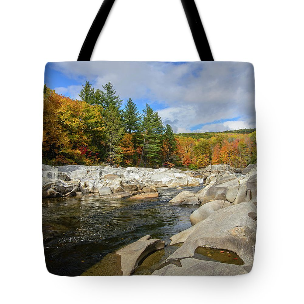 Rocky River Tote Bag featuring the photograph Rocky River by Alana Ranney