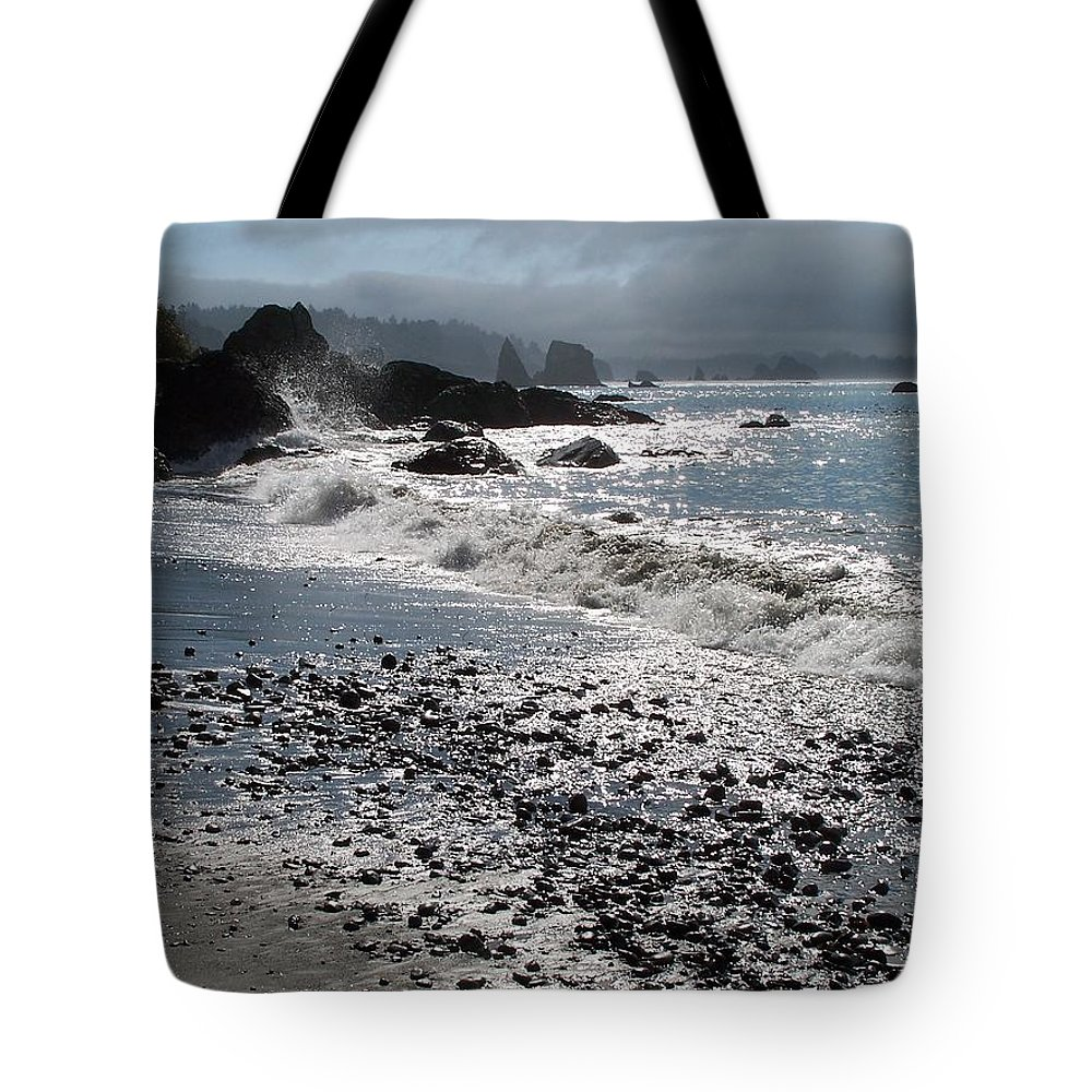 Ocean Tote Bag featuring the photograph Rocky Shores by Gale Cochran-Smith